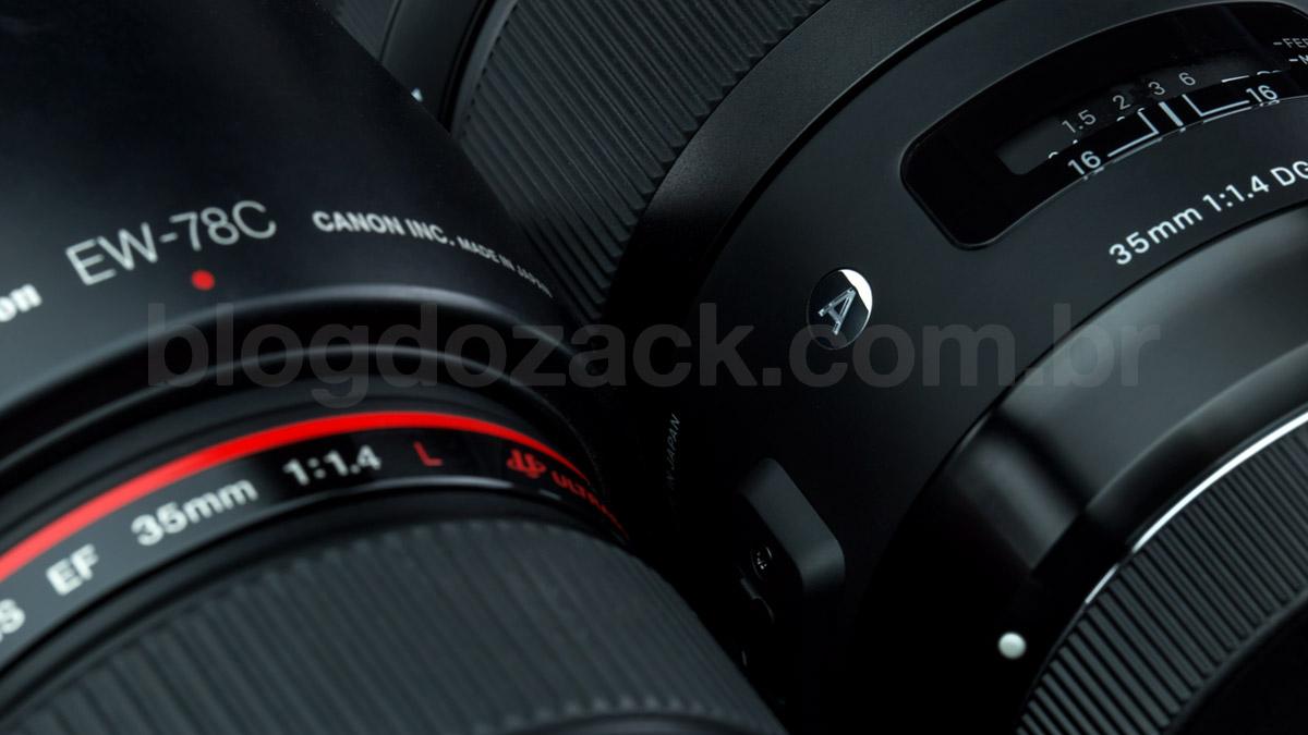 Canon EF 35mm f/1.4L USM e Sigma 35mm f/1.4 DG HSM