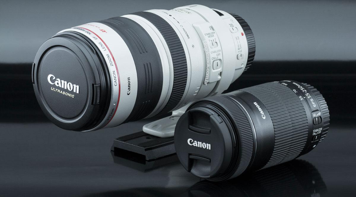 Canon EF 100-400mm f/4.5-5.6L IS USM EF-S 55-250mm f/4-5.6 IS STM