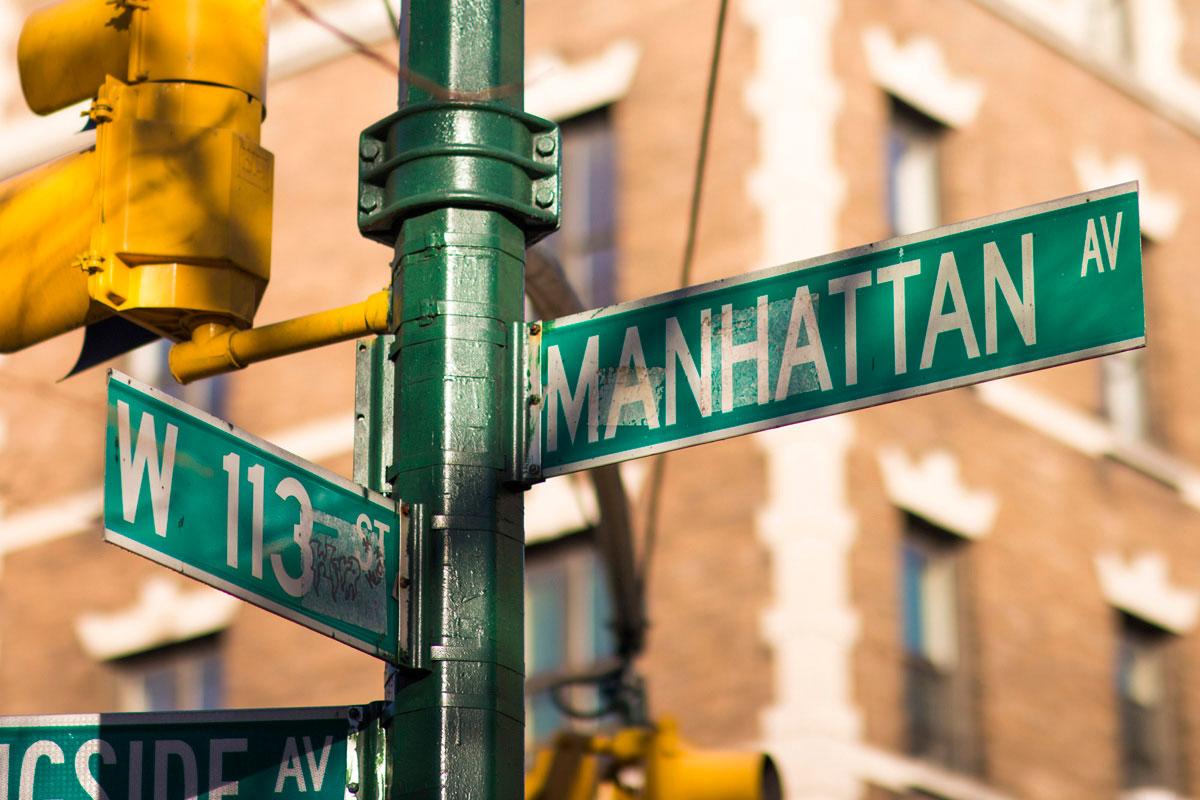"""""""Manhattan Av."""" com a EOS-M em 1/3000 ISO100."""