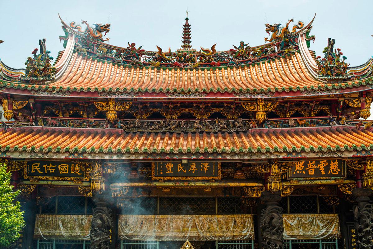 """""""Templo em Taipei"""" em f/5.6 1/250 ISO100; exposição perfeita para o sujeito."""