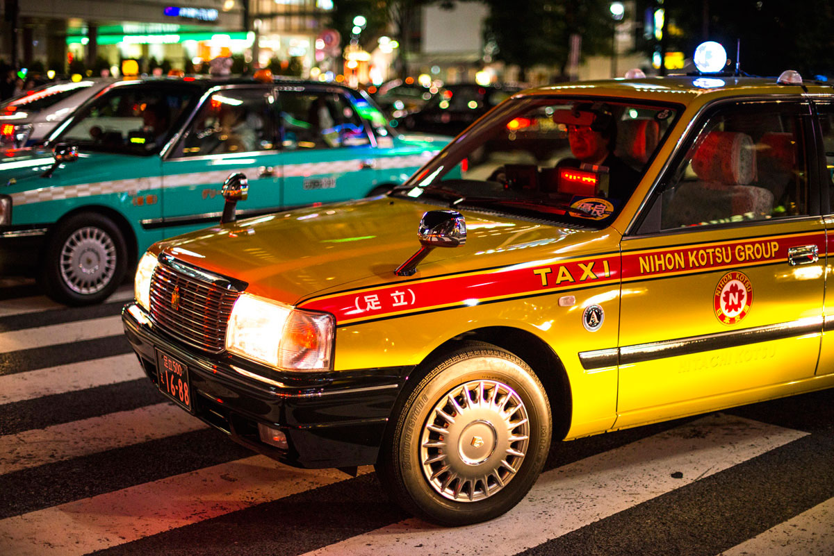 """Taxi"" at f/1.4 1/640 ISO1600."