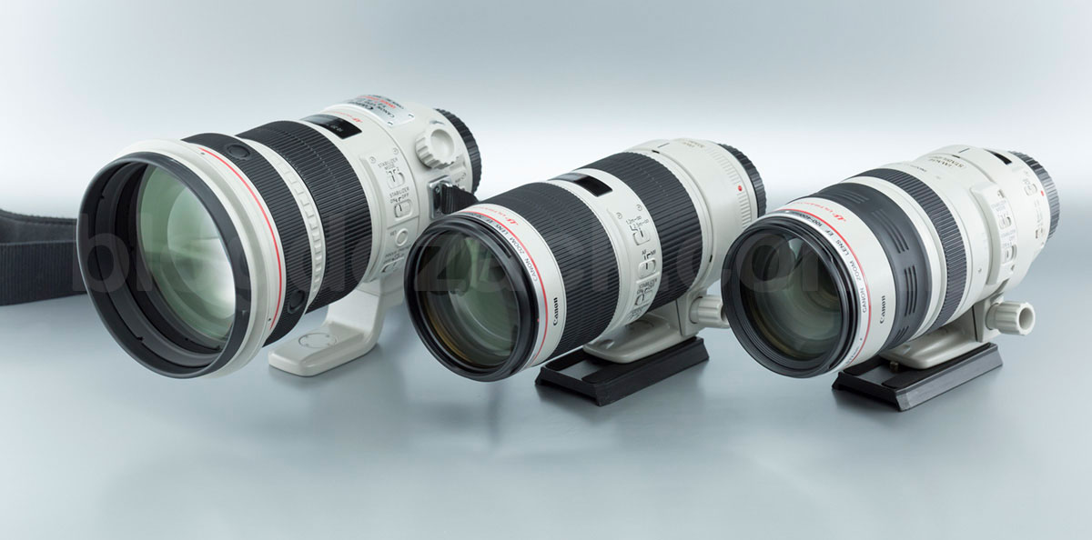 Canon EF 70-200mm f/2.8L IS II USM 200mm f/2L 100-400mm f/4.5-5.6L