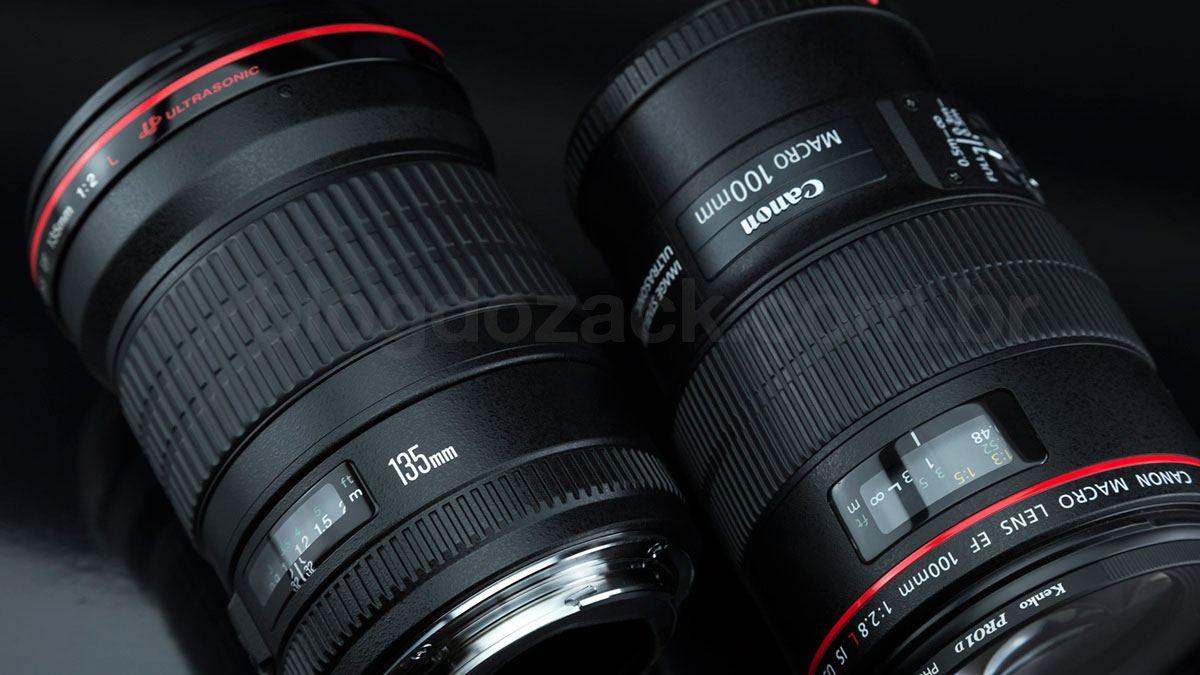 Canon EF 135mm f/2L USM 100mm f/2.8 Macro