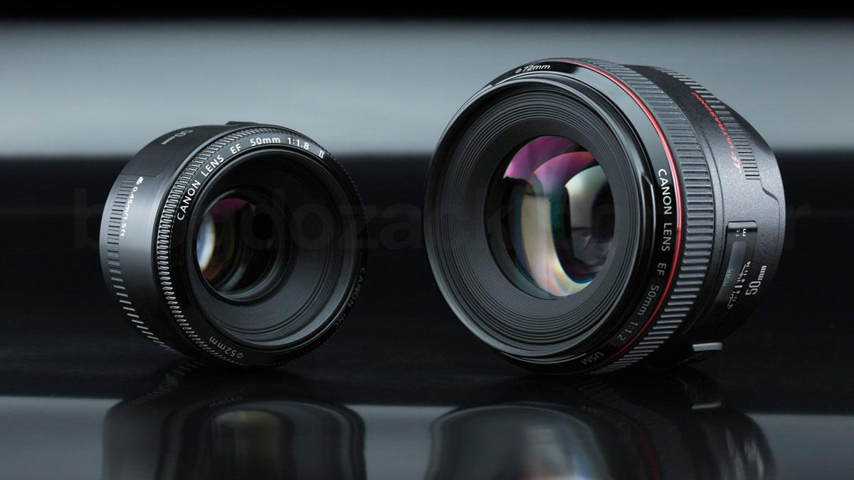 Canon EF 50mm f/1.8 II f/1.2 L USM