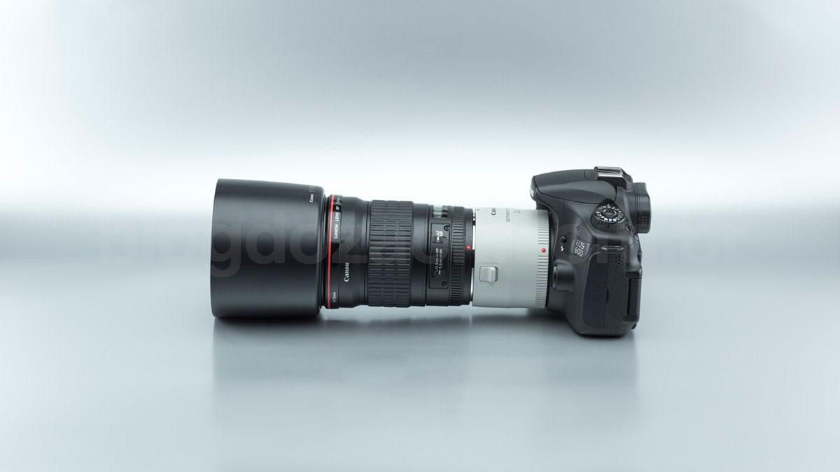 Canon EF 135mm f/2L USM + Extender 2X III