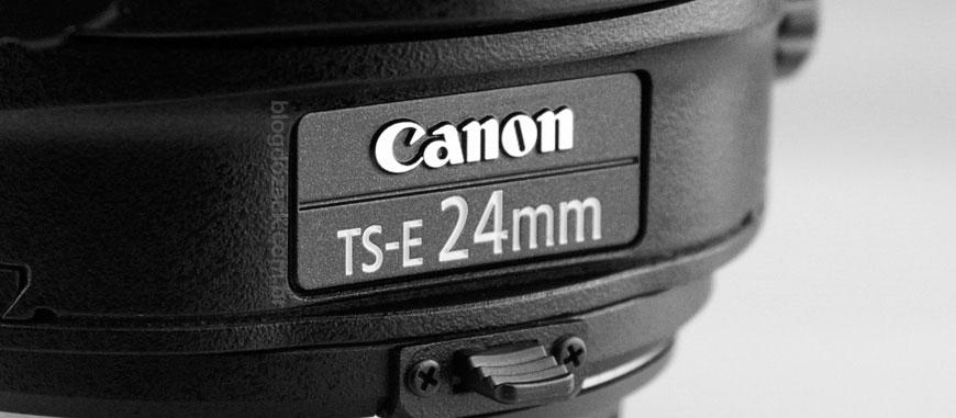 TS-E 24mm f/3.5L II; tilt-shift com abertura eletrônica.