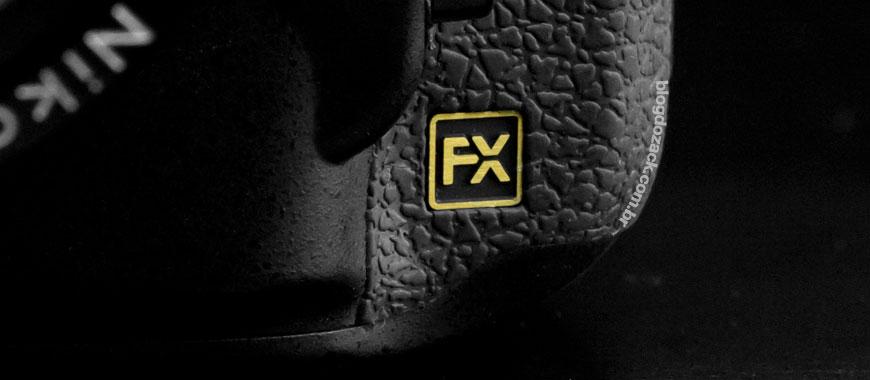 """Detalhe da D800E, uma das câmeras digitais """"FX"""" da linha."""