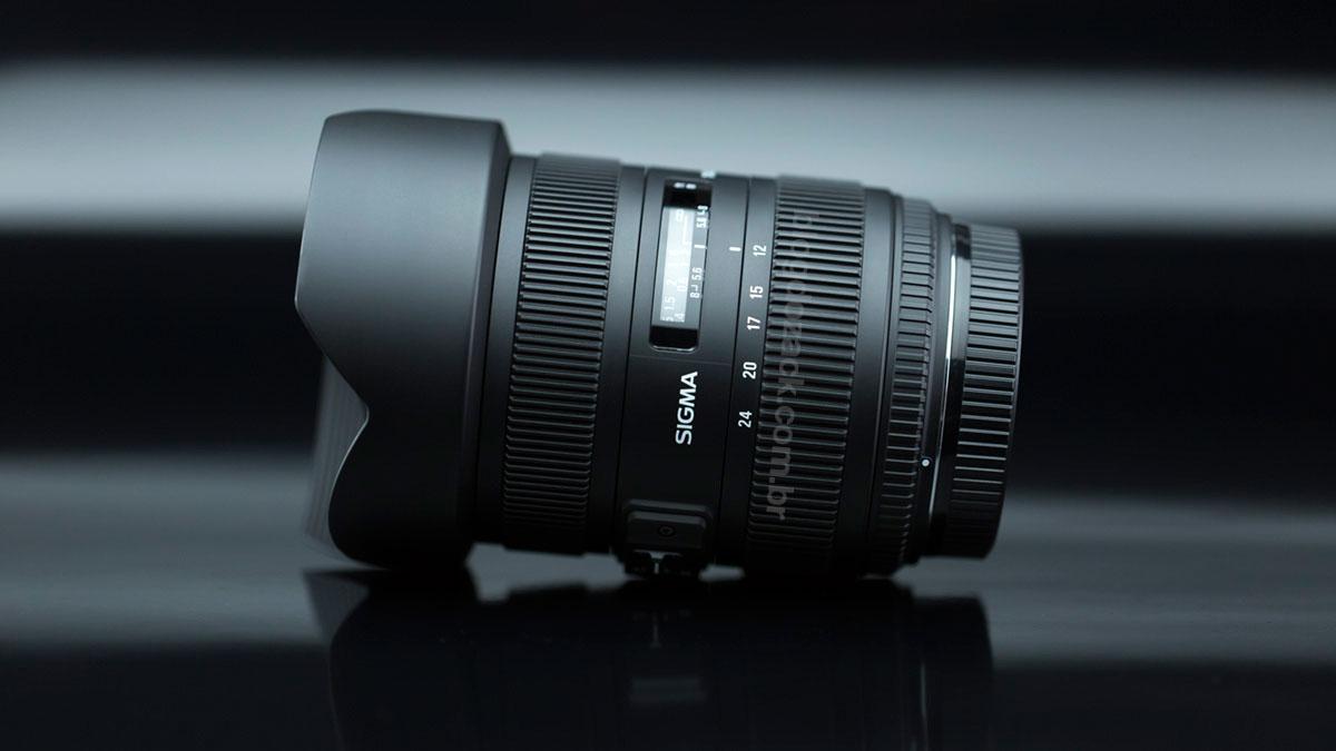 A zoom Sigma 12-24mm f/4.5-5.6 II DG HSM.