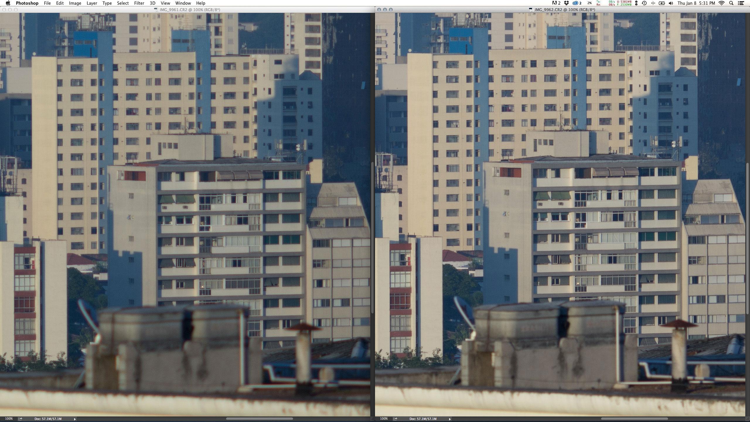 As duas fotos com a EF 135mm f/2L USM + Extender 2X III. Esquerda: f/4 1/750 ISO100 @ 270mm. Direita: f/8 1/180 ISO100 @ 270mm. A resolução desta prime é tão, tão alta, que depois da conversão e em abertura otimizada f/8 o arquivo é absolutamente perfeito. Prova que o teleconversor não degrada de fato a qualidade de imagem.