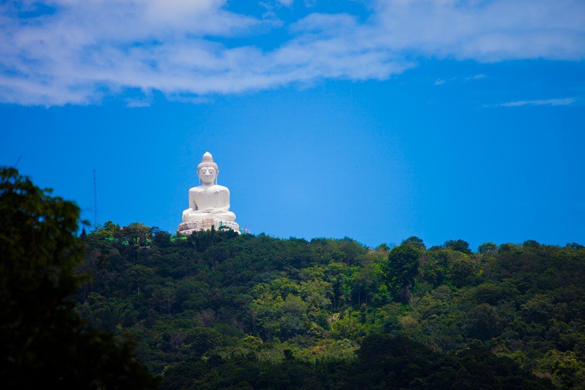 """""""Buddha Gigante de Phuket""""; vinheta de novo."""