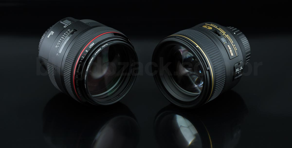 NIKON AF-S NIKKOR 85MM F/1.4G Canon EF 85mm f/1.2L II USM
