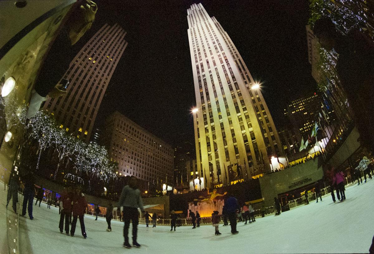"""""""Patinação no gelo"""" com a ELAN 7E + Kodak Portra 800 em f/71. 1/15."""