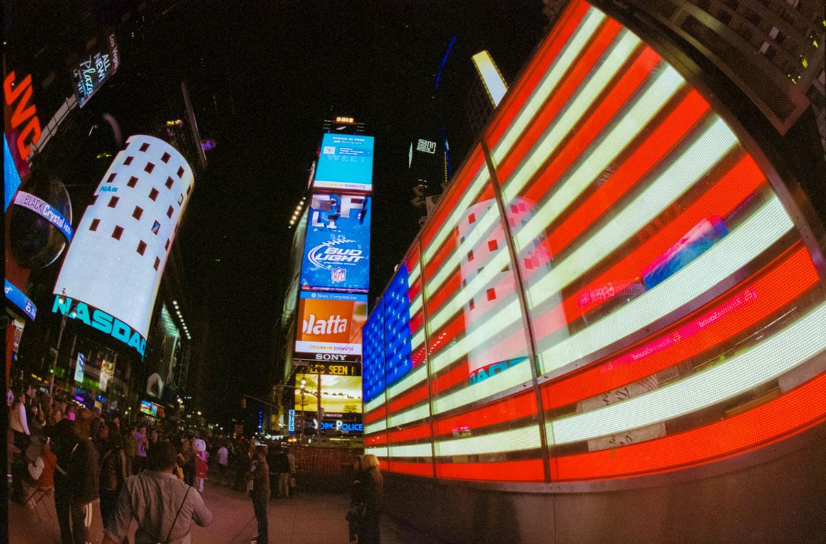 """""""Bandeira"""" com a ELAN 7E + Kodak Portra 800 em f/8 1/60."""