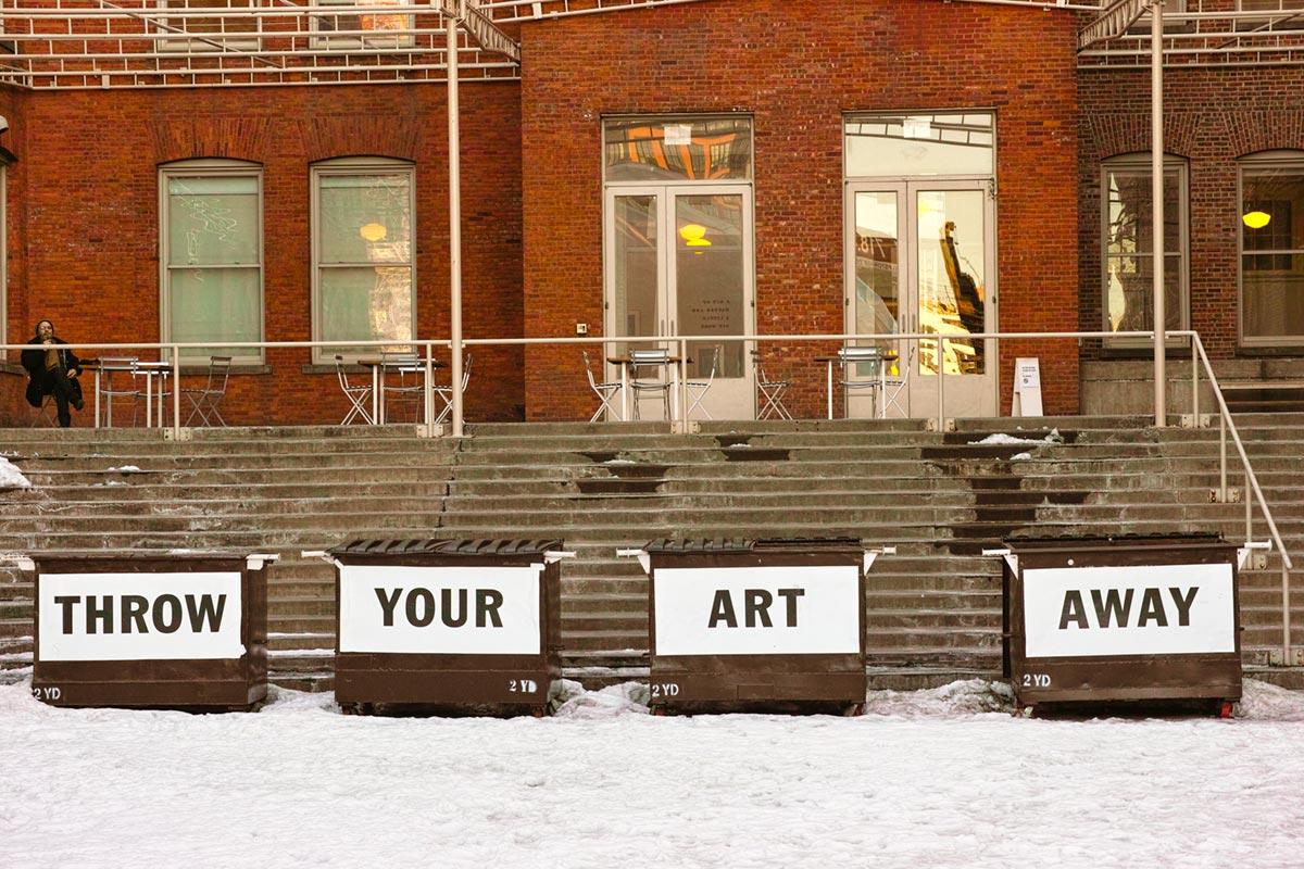 """""""Throw your art away"""" com a DP3M em f/6.3 1/125 ISO400."""