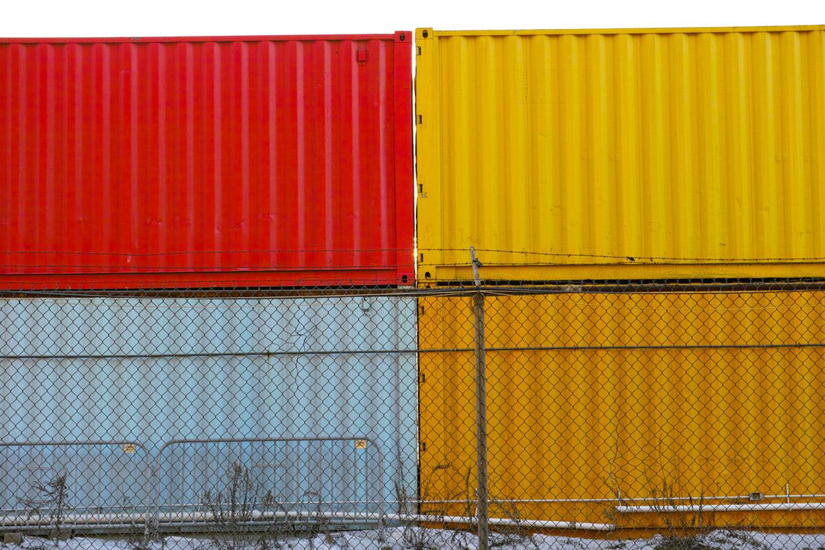 """""""Containers"""" com a DP3M em f/5 1/125 ISO200."""