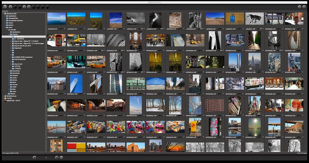 Sigma Photo Pro: navegador, preview e processador dos arquivos .X3F.
