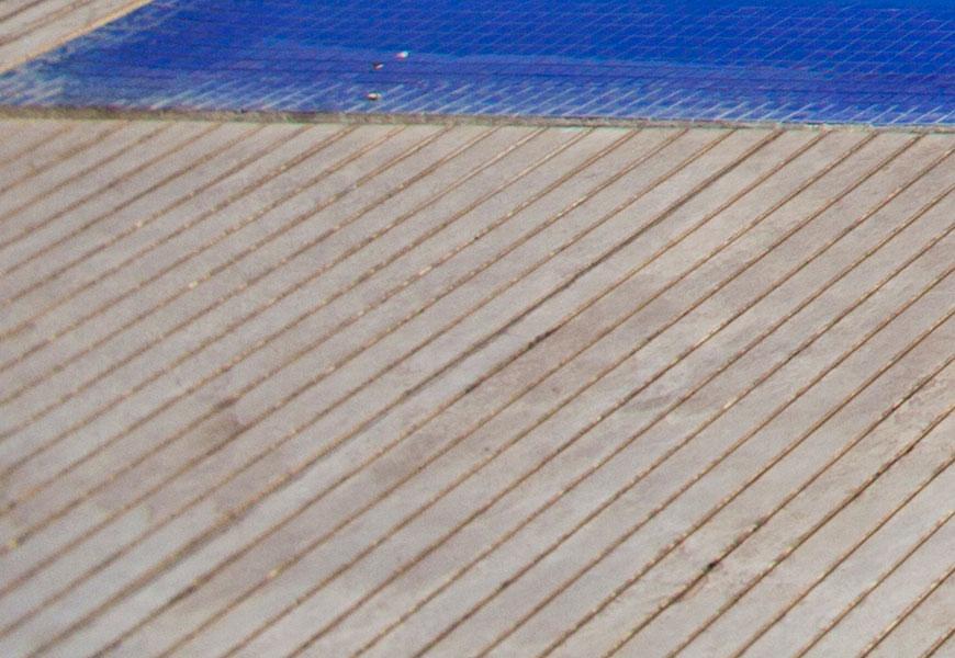 Crop 100%, na borda, mesma distância, focal, note como a nitidez cai!