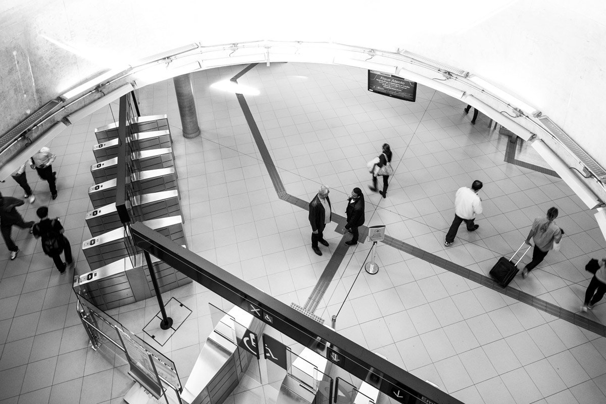 """""""Estação Paulista II"""" em f/5.6 1/30 ISO800."""