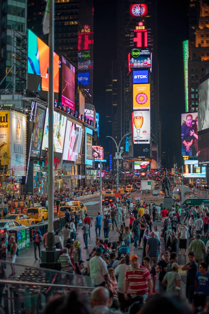 """Times Square"" at f/1.8 1/250 ISO100."