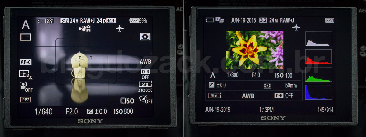 SONY A7II INTERFACE