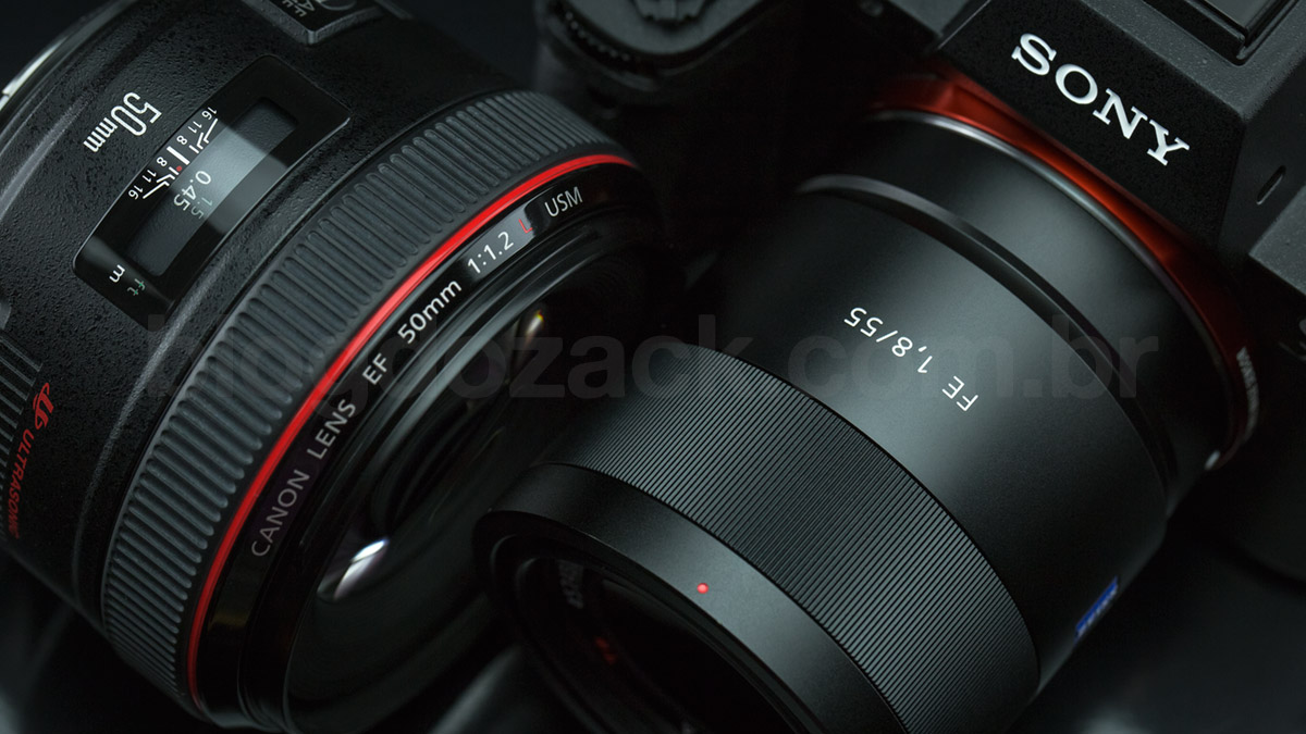Sony FE 55mm f/1.8 ZA Canon EF 50mm L USM