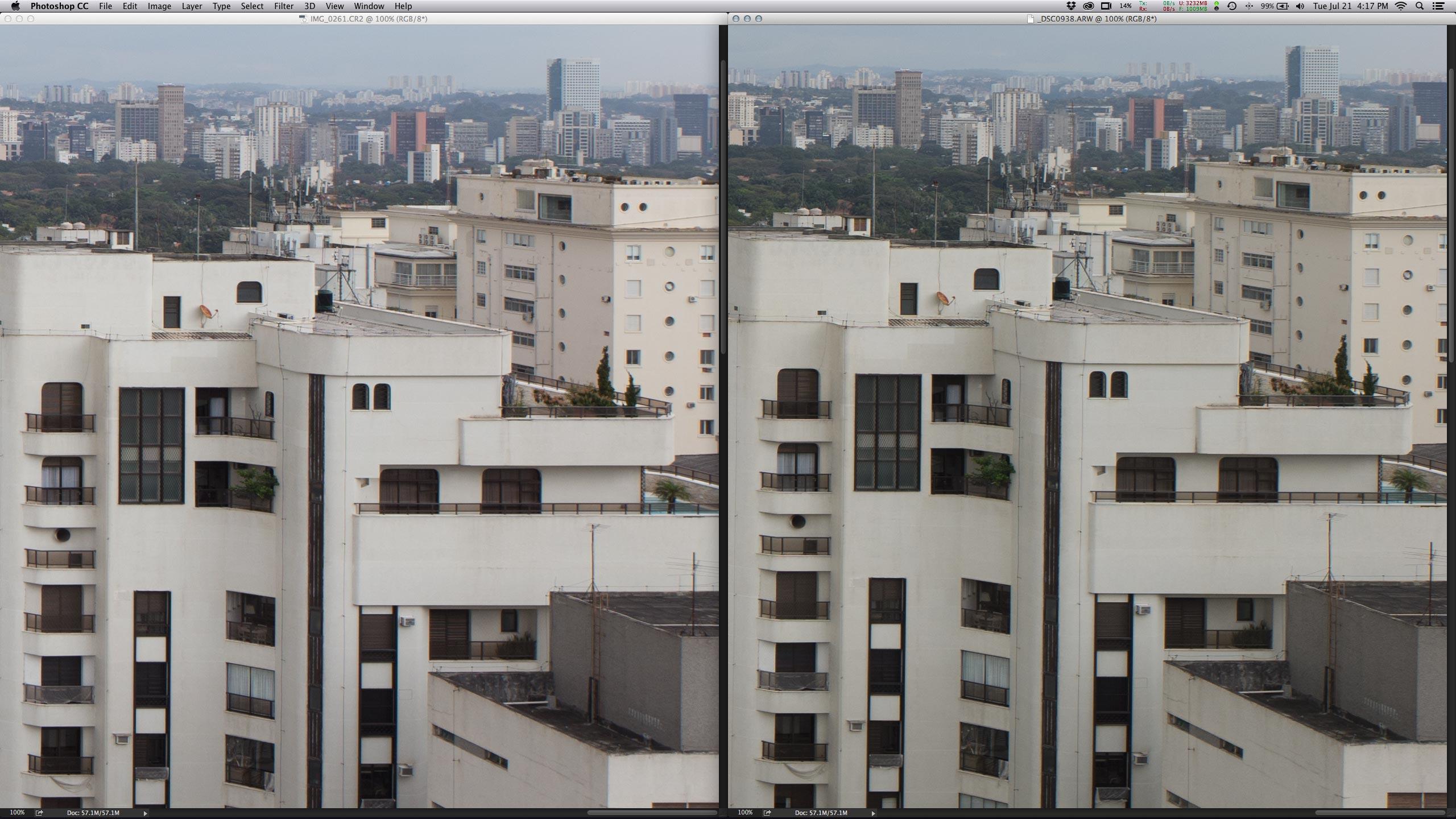 Centro - Os dois arquivos são virtualmente idênticos, sem vantagens e desvantagens.