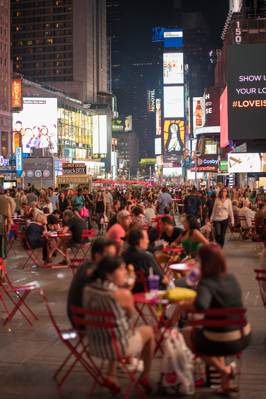 """Times Square"" em f/1.4 1/160 ISO320."