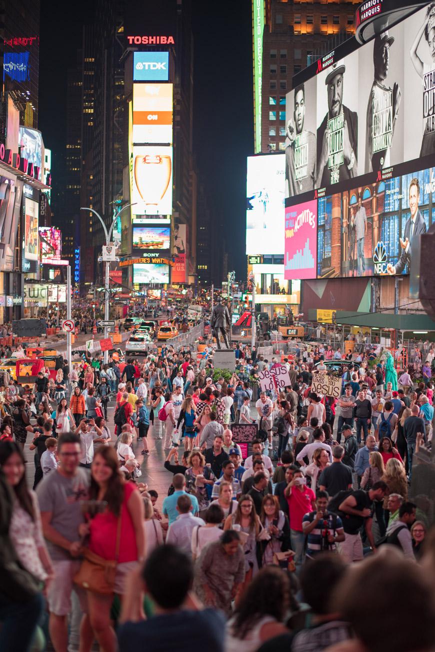 """Times Square II"" em f/1.4 1/160 ISO160."