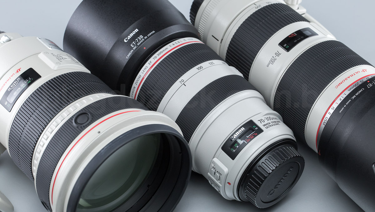 Canon L series white lenses