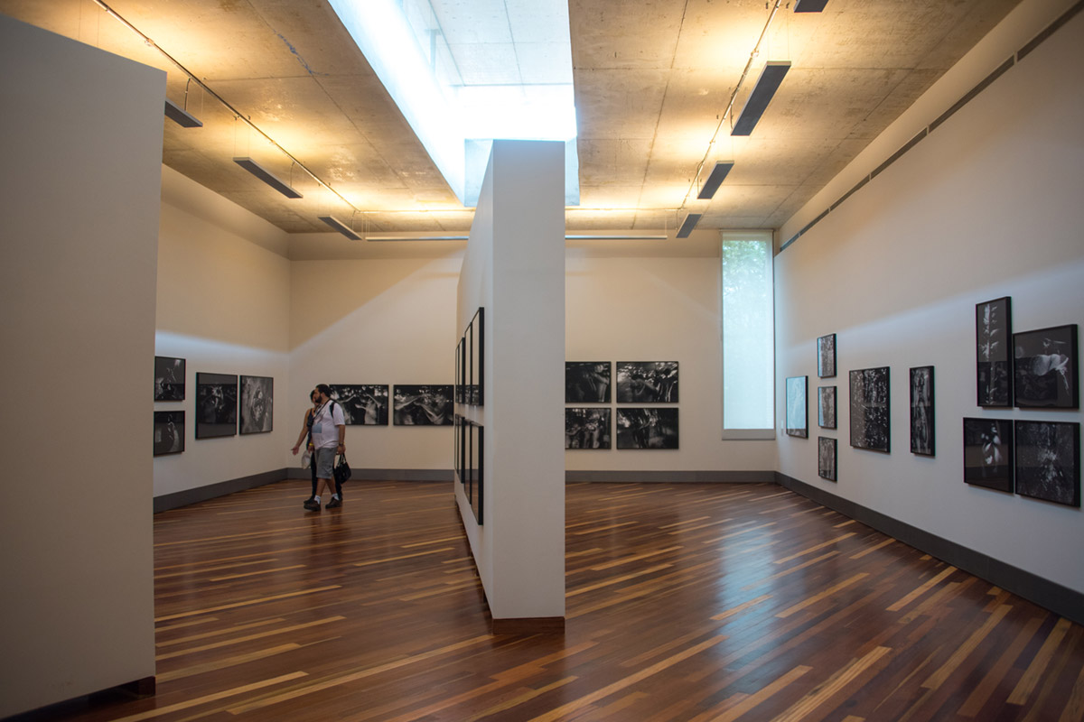 """Galeria Claudia Andujar, 2015 IV"" em f/3.5 1/100 ISO800 @ 28mm; near invisible barrel distortion due to the composition lines."