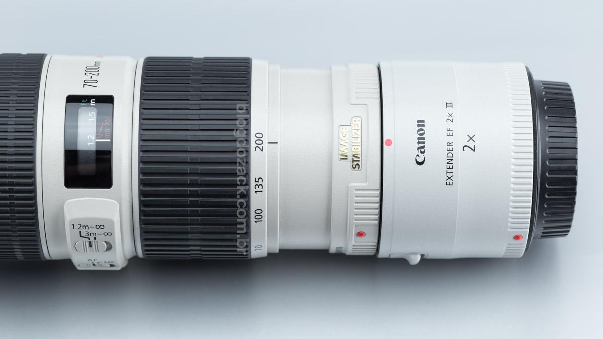 Extender EF 2x é totalmente compatível para uma 140-400mm f/8