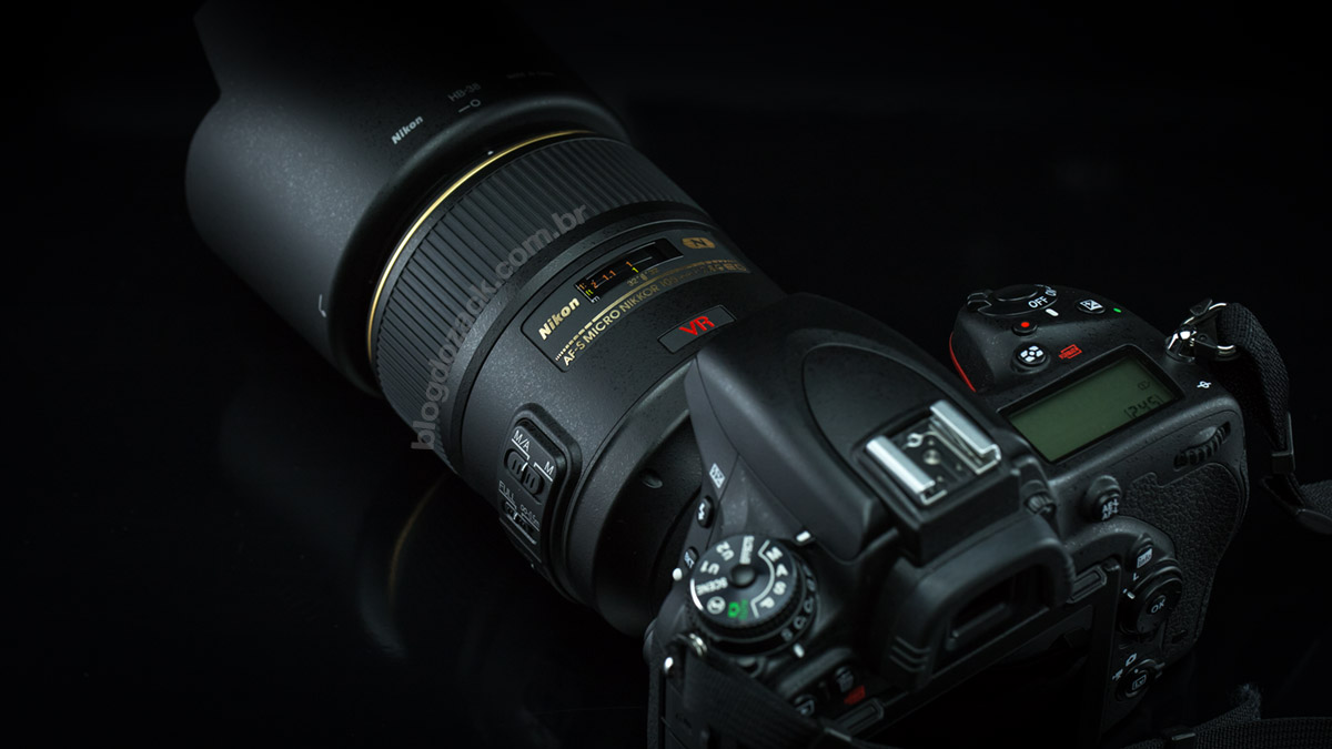 Fat and heavy: notice how the AF-S 105mm is much bolder than the skinny FX D750.