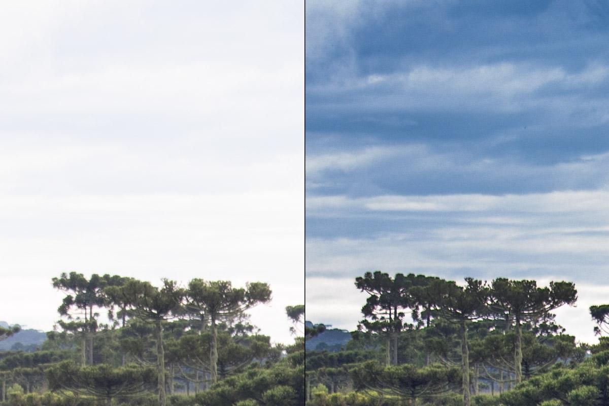 Crop 100%, já para meio tons a recuperação é razoável, aqui em -1.90 no Adobe Camera Raw.