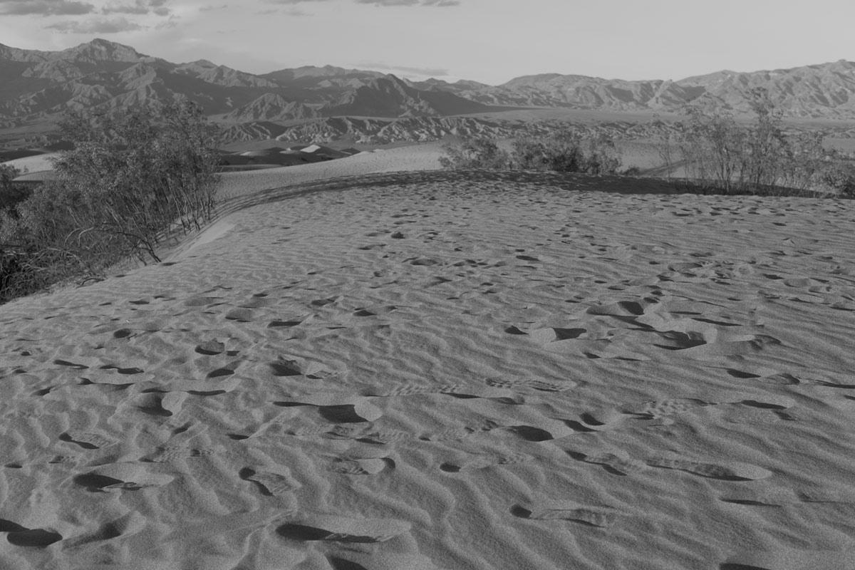 """Mesquite Sand Dunes II"" em f/5.6 1/400 ISO200."