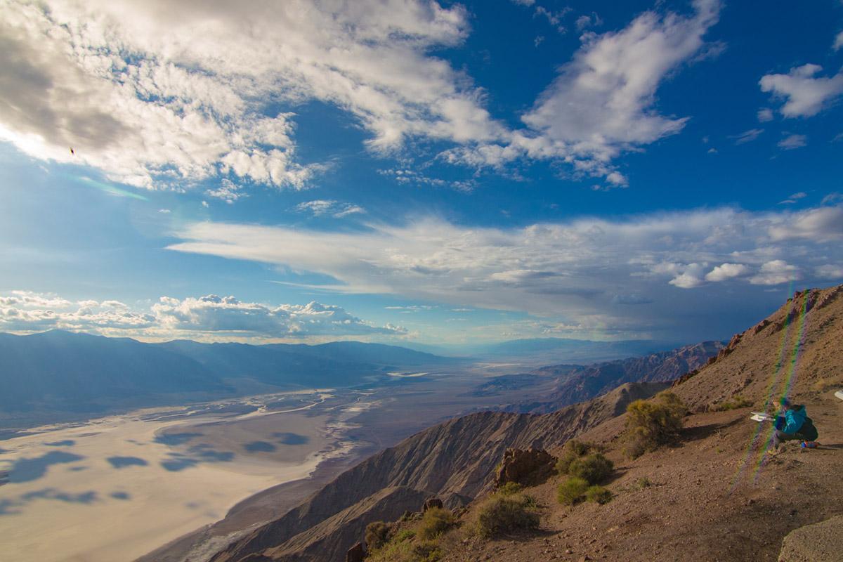 """""""Death Valley"""" em f/6.3 1/1000 ISO100 @ 11mm; flaring bem em cima do meu sujeito. ¬¬"""