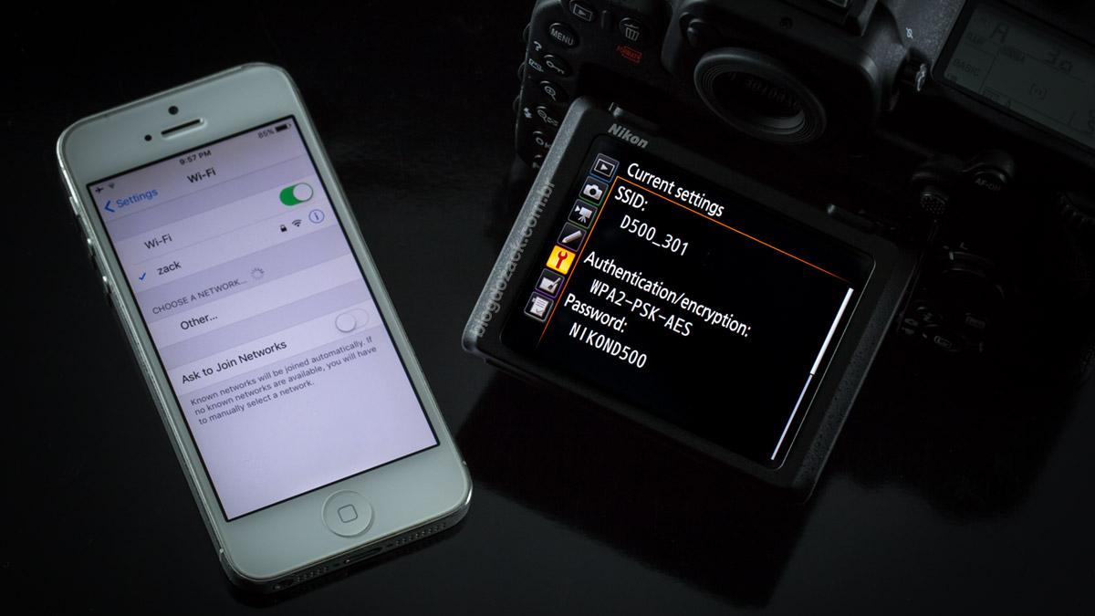 Nikon D500 iPhone 5