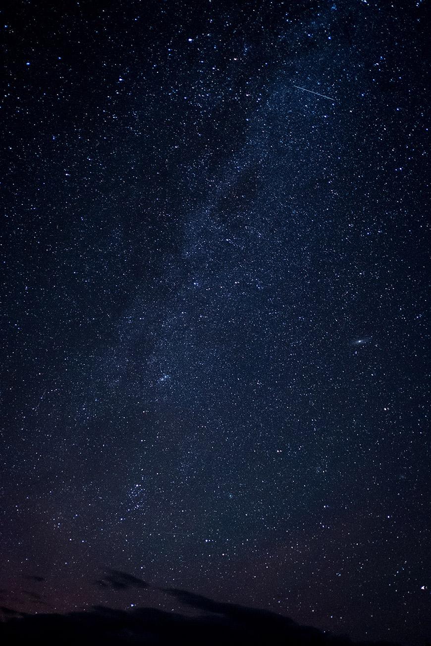 """""""Via Láctea"""" em f/2 13' ISO3200; todas as fotos com a Fuji X-T2; arquivos raw no Patreon."""