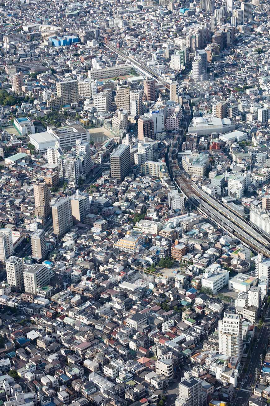 """""""Tokyo-to"""" em f/6.3 1/200 ISO100; através do vidro do mirante."""