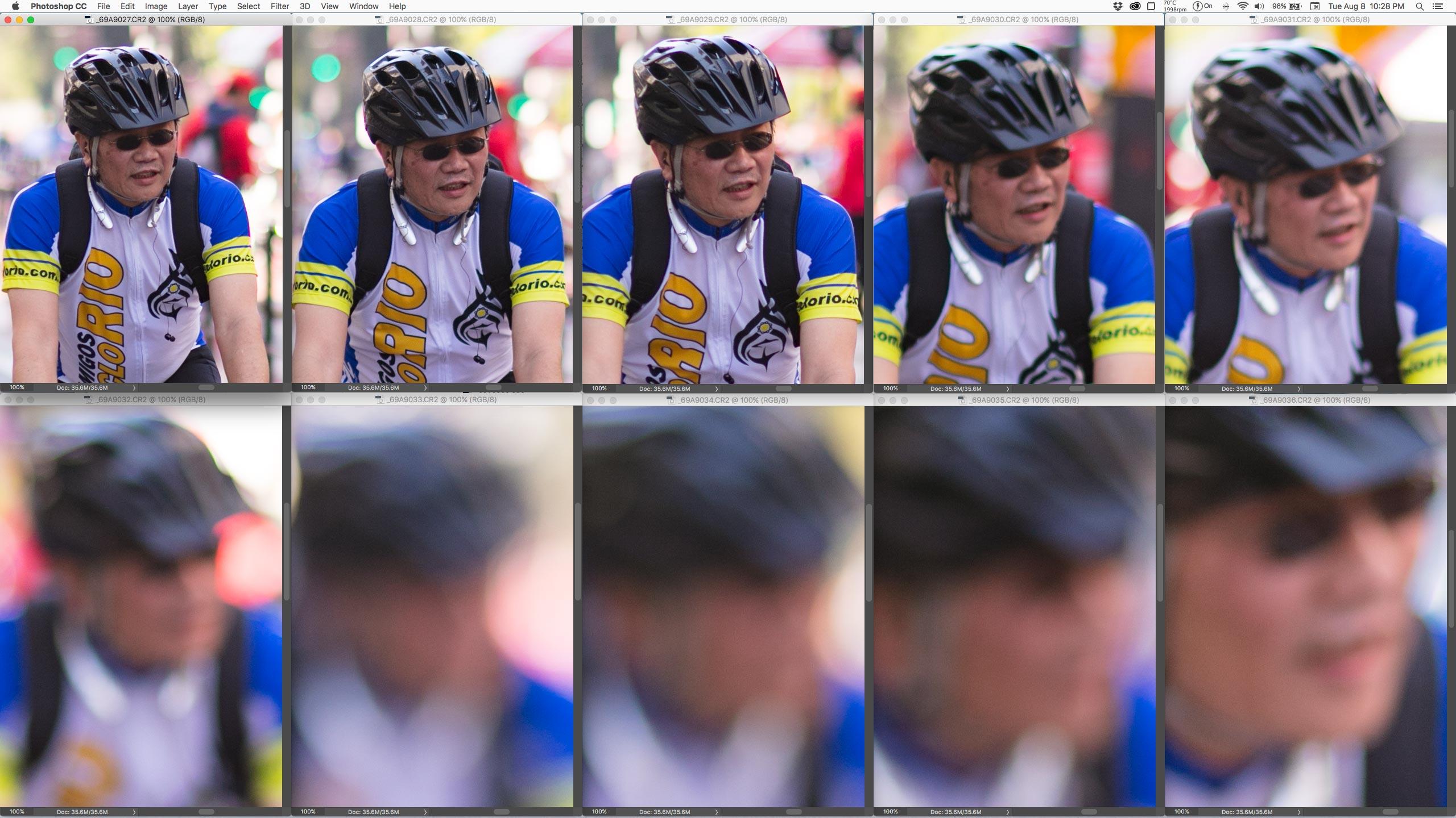 100% crop, logo depois das primeiras fotos, a objetiva se perde na posição do foco. (clique pra ver maior)