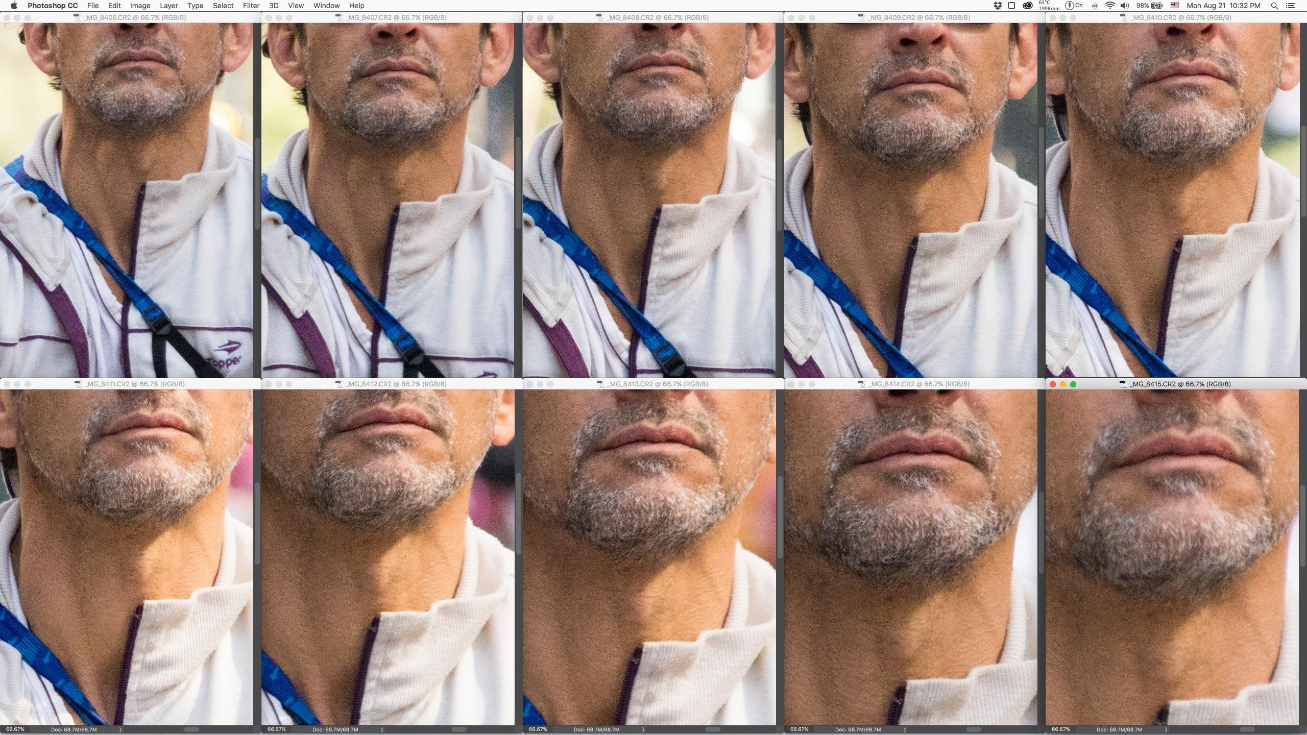 Crop 66%, TODAS as fotos em foco, só não estão mais nítidas por limitação da objetiva. (clique para ver maior)