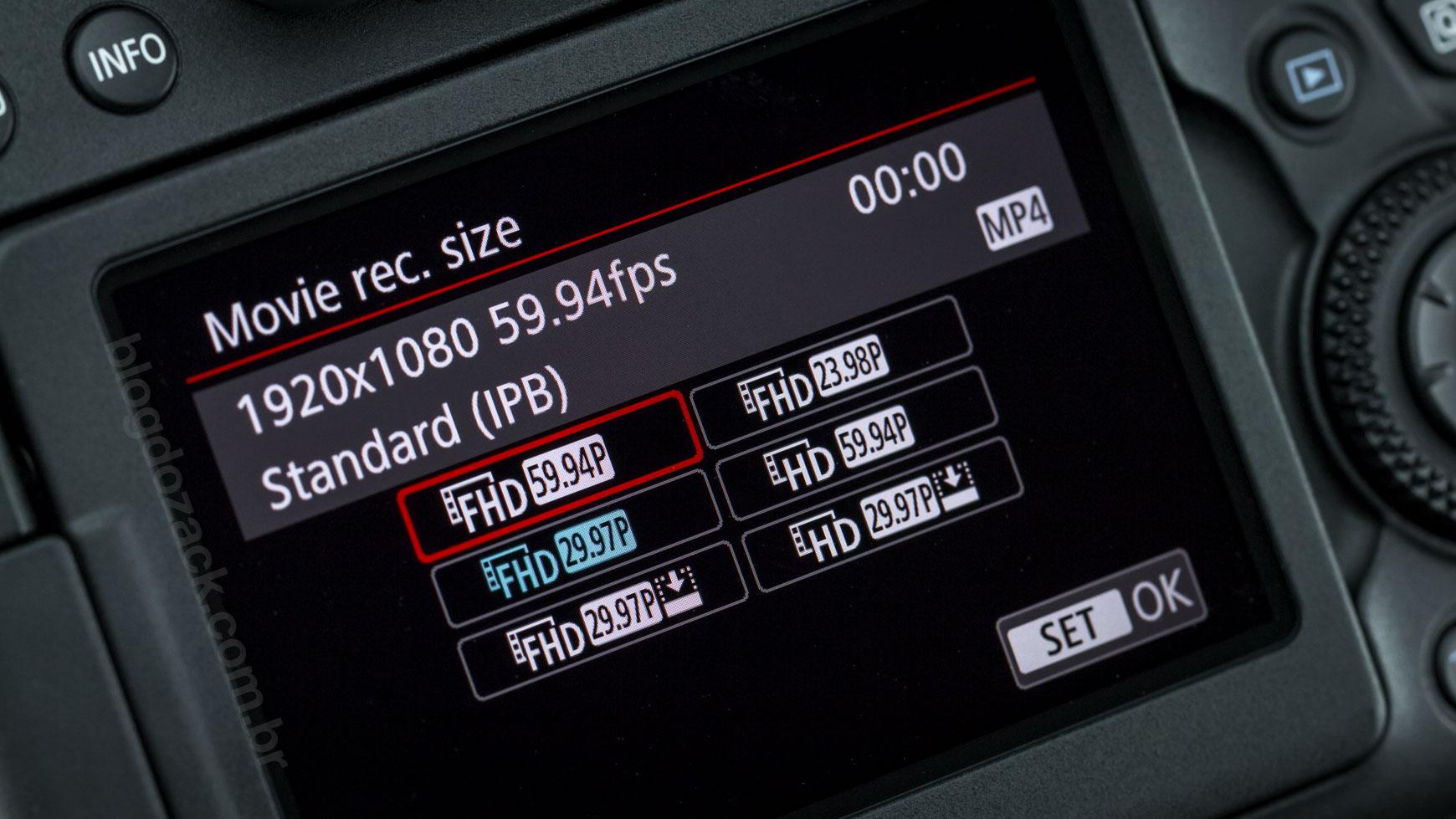 Canon EOS 6D Mark II 1080P